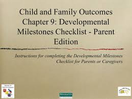 Child And Family Outcomes Chapter 9 Developmental