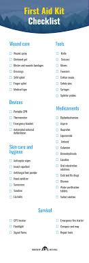 first aid kit list checklist