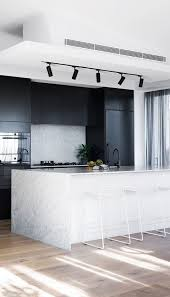 Nice kitchen track lighting interior decor Pendant Track Cool Modern Kitchen Decor Idea Track Lighting For The Ktichen Black Stainless Appliances Black Cabinets Marble Wrapped Island Minimal Modern Junglelovecafecom 30 Best Interior Design Ideas Mixing Of Modern And Minimalist