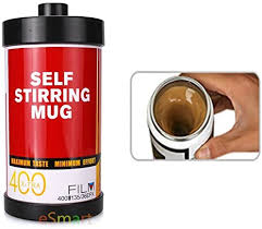 Mute mixing impeller and sealed mug cover,no need to worry about liquid splashing. Amazon Com Esmart Self Stirring And Spinning Mug Film Style Mug Mix Your Coffee Drink With The Force Blue Red Coffee Cups Mugs