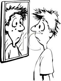 mirror clipart black and white. file:0511-0902-0418-3909 black and white cartoon of a kid mirror clipart o