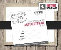 Printable Photography Gift Certificate Template Lazine Net