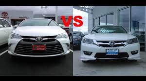 2015 Toyota Camry VS 2015 Honda Accord - YouTube