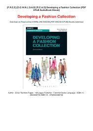 Fashion Designing Books For Beginners Free Download Pdf F R E E D O W N L O A D R E A D Developing A Fashion