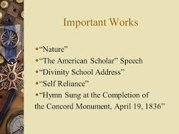ralph waldo emerson father of transcendentalism ppt video important works nature the american scholar speech