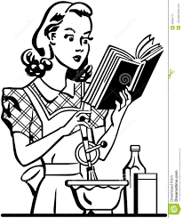 woman cooking clipart black and white. Perfect White Retro Lady Cook Intended Woman Cooking Clipart Black And White