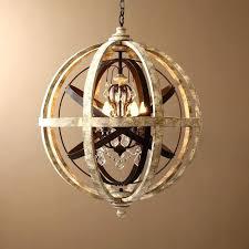 wood and crystal chandelier wood crystal chandelier retro rustic weathered wooden globe metal orb crystal 5 wood and crystal chandelier