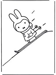 Nijntje Op Skis Nijntje Kleurplaat