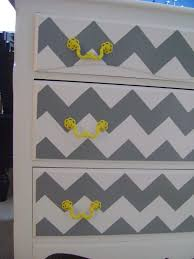 chevron painted furniture. Re-dressed Dresser - Painted Chevron And Yellows! Everyday Everything Furniture