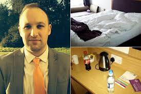Businessman forced to sleep in dirty bed and use previous guest s.