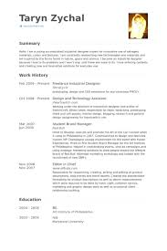 Industrial Design Resume Examples