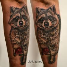 Deadcrush Lioliatattoo Raccoon Tattoo тату енот лёлячиркова