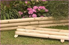 wooden garden borders chic wood landscape design home ideas pictures 8