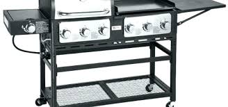 outdoor gas grill with griddle for accessory panini