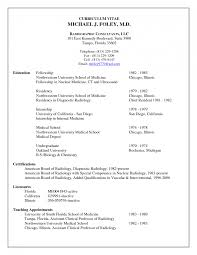 Curriculum Vitae Template Medical Student Curriculum Vitae English