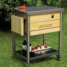 outdoor grill prep station steel
