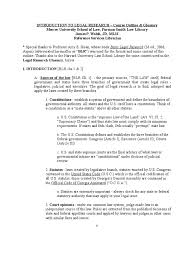 Introduction To Legal Research Outline United States Code Case