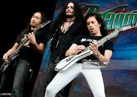 Herman Li, ZP Theart and Sam Totman of English power metal group... News  Photo - Getty Images