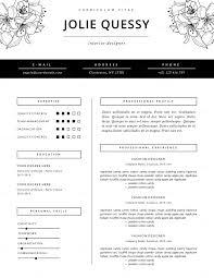 Fashion Resume Templates Feminine Resume Template Jolié Fashion Resume Template And 7