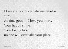 I Love You So Much Babe My Heart Is Sure As Time Goes Text