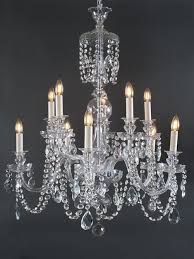 large antique crystal chandelier