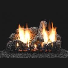 16 charred oak ceramic logs 16 slope glaze vent free burner millivolt