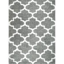 grey and white pattern rug black