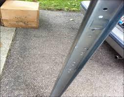 garage door vertical track