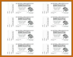 Raffle Tickets Prize Ticket Printable Helenamontana Info