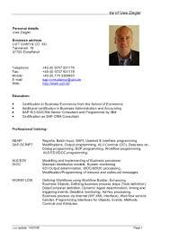 European Resume Template German Cv Template Doc Calendar Doc 16
