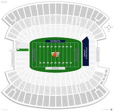 gillette stadium seating chart with row numbers