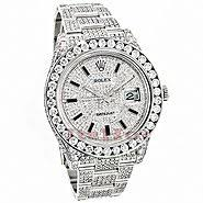 rolex diamond watches custom watches for men women rolex datejust mens custom diamond watch 25 20ct iced out
