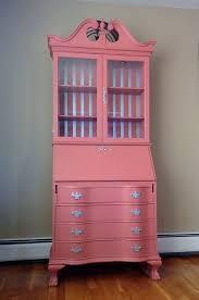 painted c silver chippendale style secretary desk hutch bookcase