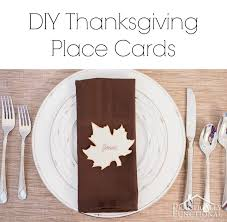 10 minute diy thanksgiving place cards plus a free printable template
