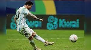 Copa America final against Brazil ...