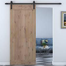 interior barn door track. Bent Strap Sliding Door Track Hardware And Vertical Slat Primed Knotty Solid Wood Panelled Alder Interior Barn R