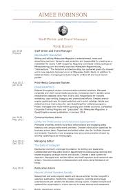 Writer And Editorial Assistant Resume samples