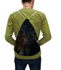 <b>Рюкзак</b>-мешок с полной запечаткой <b>Стимпанк</b>. Абстракция ...