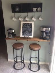 Coffee house furniture Rustic Vintage Floating Coffee Bar Marvelbuildingcom 49 Exceptional Diy Coffee Bar Ideas For Your Cozy Home