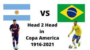 Argentina vs Brazil head 2 head in Copa ...