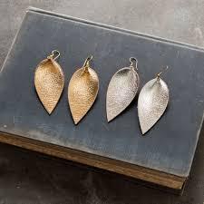 metallic leather earrings magnolia market chip joanna gaines