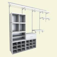 home depot wire closet shelving. ClosetMaid Elite 96 In. H X W 14.1 D 52-Piece Wire And Laminate Closet System In White-33019 - The Home Depot Shelving O