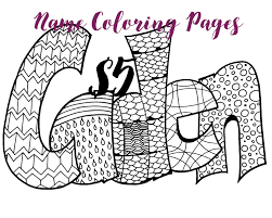 Small Picture Any Name 5 Printable name coloring pages Art Feast Pinterest