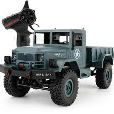 WPL-B1 1/16 Scale 2.4Ghz RC Crawler Military Trucks Model Vehicle ...