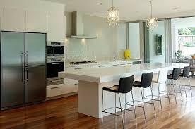 Elegant Prächtige Kronleuchter Modern Küche Barhocker Weiß Kücheninsel