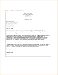 Thank You Letters After Interviews Letter Format Mail