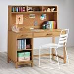 Writing desk with shelves