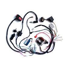 110cc chinese atv wiring harness 110cc image complete electrics atv wiring harness quad wire loom 50 70 90 on 110cc chinese atv wiring