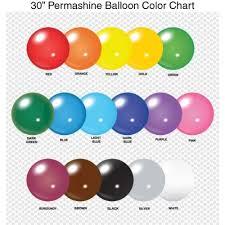 Balloon Color Chart 30 Inch Permashine Balloon