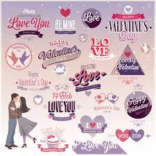 vine valentine day ornament labels vector 02